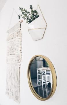 Gold Mirror Accent.